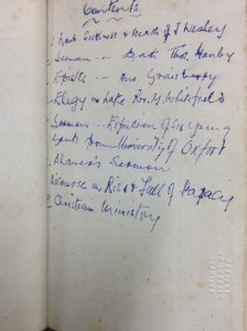 inscription in the cover of
