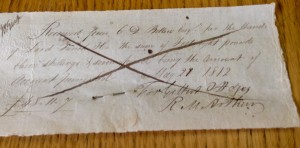 Receipt for books sold by Richard McArthur to Lord Moutbellew. Courtesy of National Library of Ireland