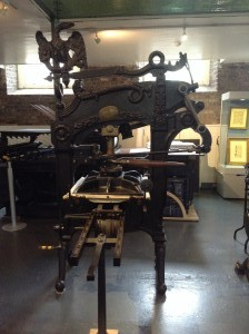 A printing press from the early 1800's, the kind the Graisberrys would have used. Curtesy of the National Print Museum, Dublin.