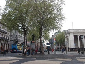 College Green, where Emily McArthur's father Richard had a bookshop