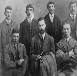 Back Row: John Kilcoyne, Dominick Lavelle, James Kilcoyne, Pat McNamara. Front row: John McNamara, Darrrell figgis, Pat McNamara