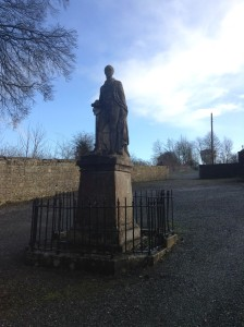 The statue of Arthur Hills, 3rd Marquess of Downshire, overlooking Edenderry