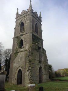 The ruin of the Church at Castlejordan, Co. Kildare where Emily's father was Incumbent