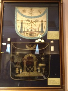 Masonic apron used for ceremonies such as funerals of members