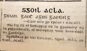 Advertisement for Scoil Acla 1913