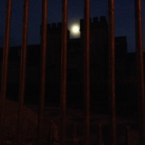 Tullamore Prison at night