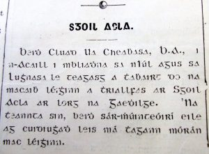 Claud Chavasse teaches Irish classes on Achill in 1915